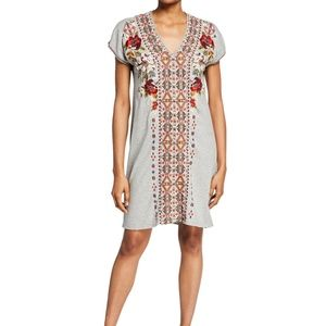 Johnny Was Tunic Dress Relaxed Boho Embroidered